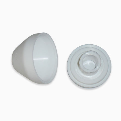 NUT COVER AND SUPPORT FOR SANITARY FITTINGS