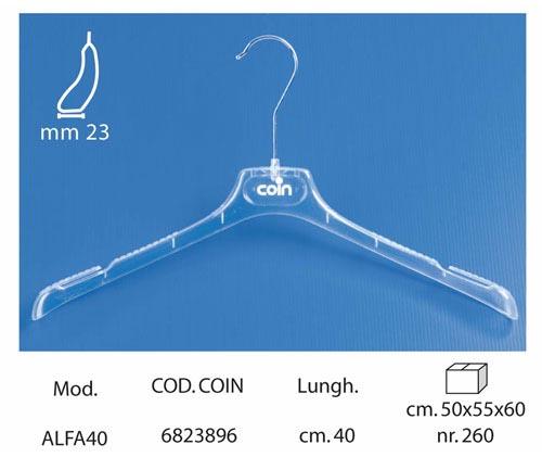 Linea Coin appendini per intimo trasparente ALFA40