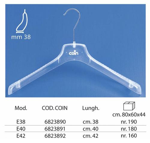 Linea Coin appendini per intimo trasparente E-1