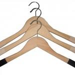 Appendiabiti legno velluto spalla